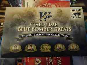 CFL Winnipeg Blue Bombers All Time Greats 75th AnniversaryPinsn