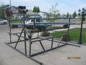 4000 lb NEW CANTILEVER STYLE PONTOON BOAT LIFT.