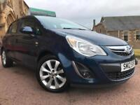 *6 MTHS WARRANTY*2012(12)VAUXHALL CORSA 1.4 ACTIVE 5DR WITH 37K-HALF LEATHER*