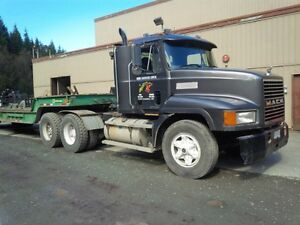 Mack lowbed and trailers