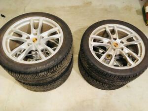 Porsche rims and Michelin winter tires