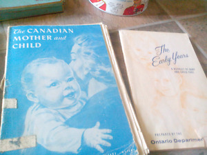 Early years vintage child care books