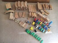 Wooden Train Track - approx 150 pieces