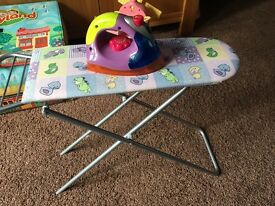 Toy ironing board and iron with steam sounds!