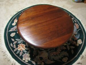 "Solid Mahogany Gibbard 28""dia. Cocktail or Coffee Table Now $145"