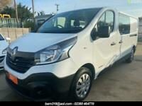 RENAULT TRAFIC LL29 LWB FACTORY 6 SEAT CREW, V LOW MILEAGE, E PACK, BT, 1 OWNER