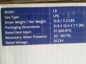 Tankless water heater Eco temp L5. Great for camper or cabin