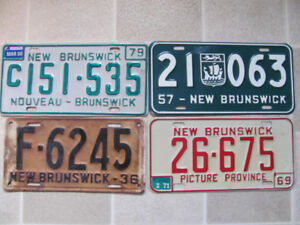 N.B. license plates 1929 and newer at Fredericton Flea Market