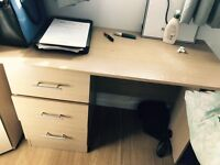 Desk Table With 3 Three Drawers