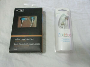 Mixed TDK and Memorex Earphones, only $10 each