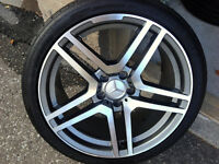 "18 "" Staggered Rims And Tires, Mercedes, E, C, AUDI A4, 95%TREAD"