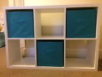 Storage cube shelving unit