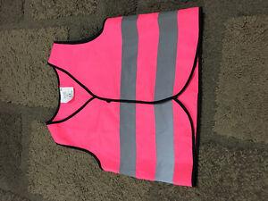 kids hi vis vest pink
