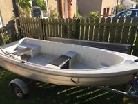 Boat & Trailer ( comes with Oars and Locks )