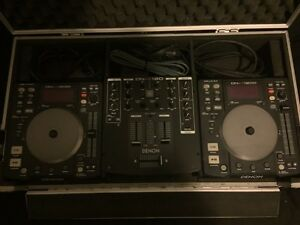 Denon Dj Equipment + Fitted Carry Case