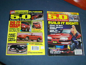 5.0 MUSTANG MAGAZINE-2 VINTAGE BACK ISSUES-1994/1995-AUTOMOBILES
