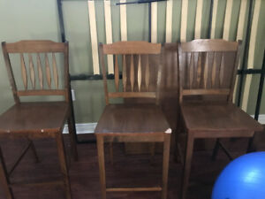 Pub Table, 4 Chairs
