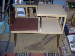 Vintage retro table and seat combo