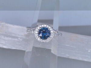 Spring is in the air -Blue Sapphire Engagement Ring - Size 7