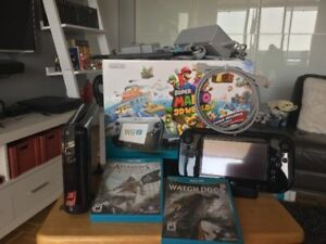 Wii U  + 4 jeux Mario 3D, Assassins Creed...-240$