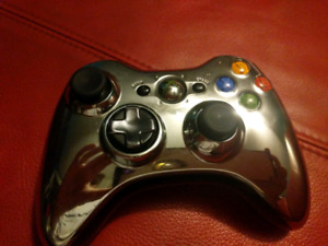 Xbox 360 + games + 2 controllers + wireless charger + headset