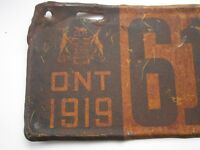 Rare Matched Set of - 1919 Ontario Licence Plates