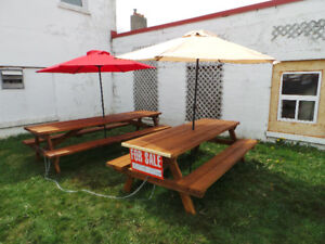 Picnic Tables For Sale outdoors Built from pine lumber