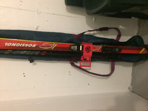 Down hill ski set with boots and 2sets of cross country skis