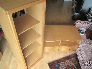 Meuble bas et étagère en bois pour TV (Audio video)