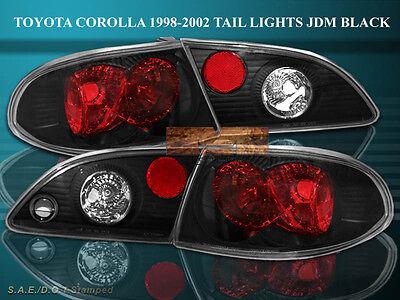 98-02 TOYOTA COROLLA TAIL LIGHTS JDM BLACK 4PC 01 00 99 02 Toyota Corolla Tail Light
