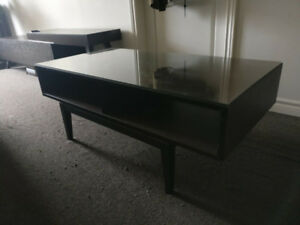 Ikea coffee table. glass top. easy assembly. originally 279