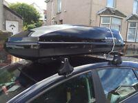 Exodus black luggage roof box very good condition