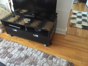 TV table from Ikea dark brown