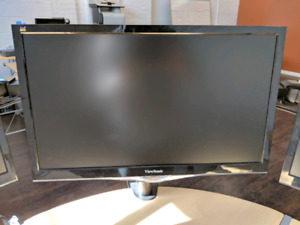 "22"" & 20"" LED LCD Ultra-Slim Monitors with Desk Mount"