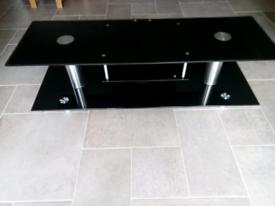 Designer tv table 150cm x 50cm x 48 cm, glass 10mm,free local del. vgc