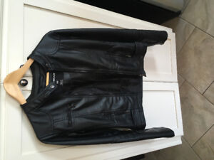 Woman size small leather jacket