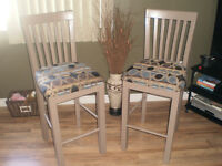 High Back Wooden Stools
