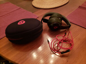 Beats Solo, corded with case.