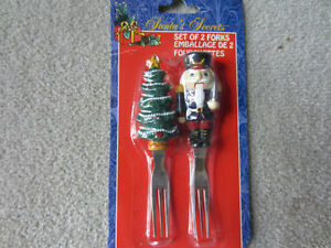 BRAND NEW - SET OF TWO CHRISTMAS FORKS