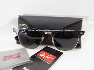 Ray ban Clubmaster ALUMINUM FRAME & POLARIZED LIKE NEW