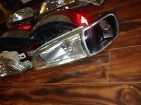 Subaru Impreza sti crystal lights, black sides OEM