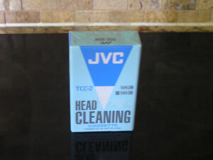 Unused Sealed JVC VHS Head Cleaning Cassette