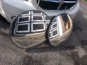 Convex (wide angled) Mirrors - pair