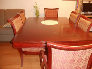 Dinning Table and Buffet & Hutch