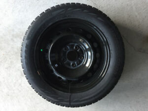 Bridgestone Winter Blizzak Tires and Steel Rims