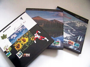 Canadian stamps book collection 1995, 1996, 1997