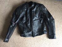 Richa Motorbike Leather Jacket size UK 42 worth £200 like NEW