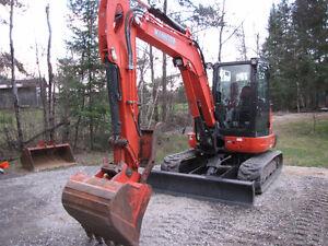 One owner Kubota Kx 057-4 excavator low hrs