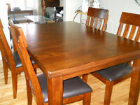 dining table with 4 chairs (bench optional - additional price)