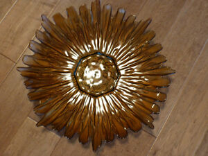 Decorative Glass Plate with display stand
